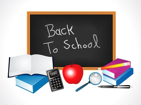 multiple back to school elements vector illustration Stock Vector - 9941030