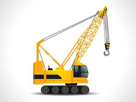 lift trucks: detailed crane vector illustration