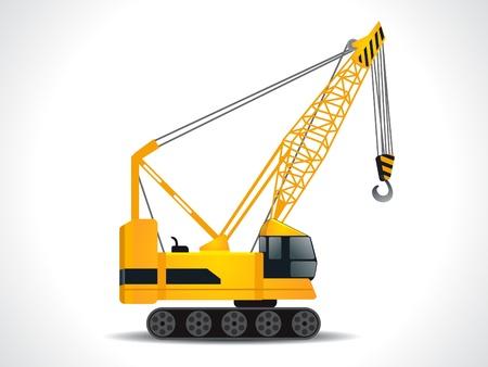bouwkraan: gedetailleerde kraan vector illustratie