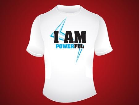 am: i am powerful tshirt design vector illustration Illustration
