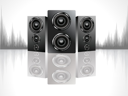 shiny black sound box set vector illustration Stock Vector - 9940949
