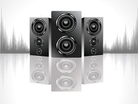 stereo: zone de sound noir brillant d�finie illustration vectorielle