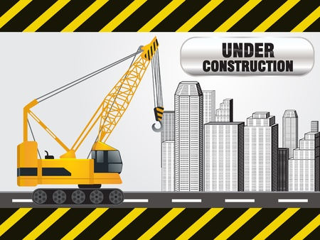 abstract under construction background vector illustration Vector