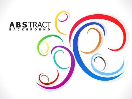 illustraion: abstract colorful creative decorative design vector illustraion Illustration