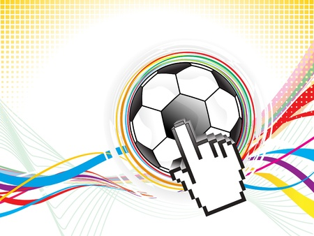 grung: abstract football background design vector illustration