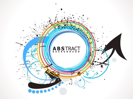 abstract colorful line circle splash vector illustration