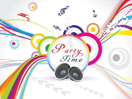 fiesta dj: Fondo de partido colorido abstracto Vectores