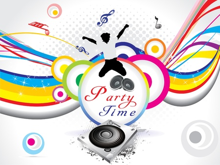 dj equipment: abstract colorful party background  vector illustration Illustration