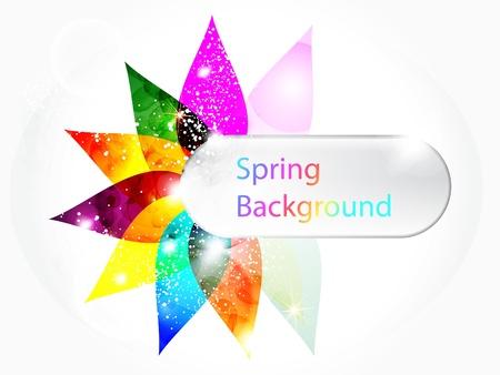 pamphlet: abstract colorful floral spring background vector illustration Illustration
