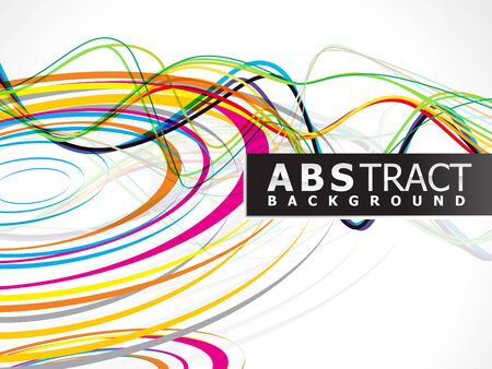 abstract colorful rainbow line wave circle background vector illustration Vector