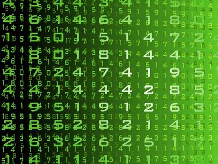 flujo de datos: abstracto verde de dise�o digital de fondo ilustraci�n vectorial Vectores