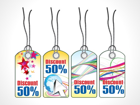 abstract multiple discount coupon vector illustration Stock Vector - 10037146