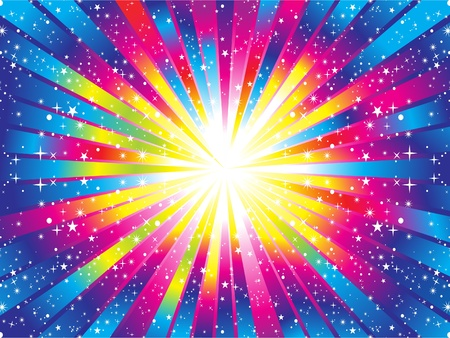 abstract colorful rainbow background vector illustration Vector