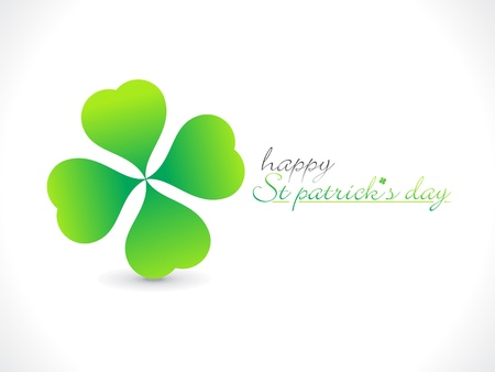 reflaction: abstract st patrick day greeting vector illustration