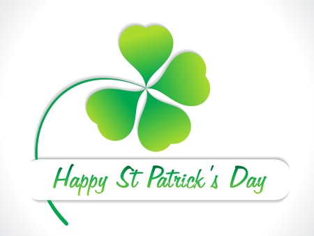 clover leaf shape: abstract st patrick day greeting vector illustration