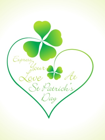 four leafed: abstract st patrick day greeting vector illustration