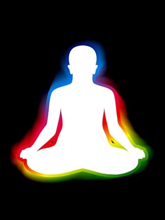 aura: colorful aura of body vector illustration