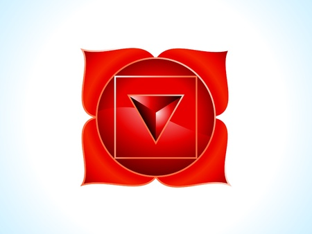 detailed root chakra vector illustration Stock Vector - 10037118