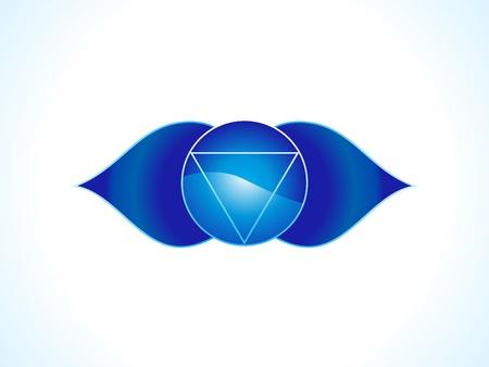 brow: dettagliate brow chakra illustrazione vettoriale