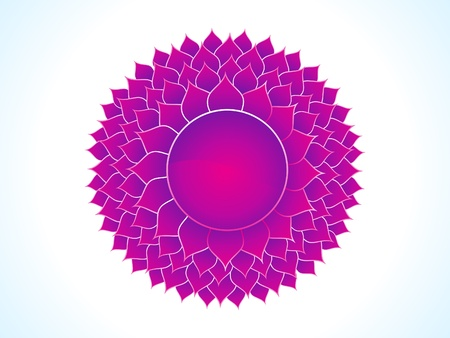sanskrit: detailed crown chakra vector illustration