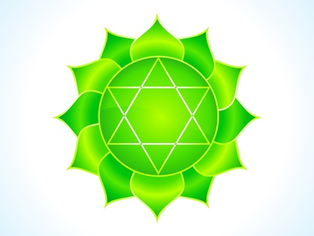 holistic health: detailed heart chakra vector illustration Illustration