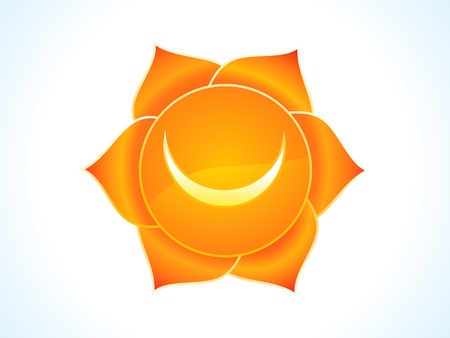 swadhisthana: detailed sacral chakra vector illustration