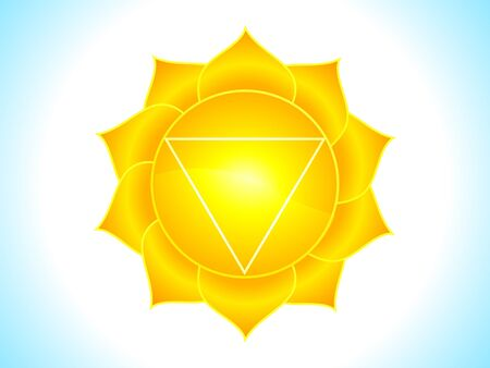 ayurveda: detailed solar plexus chakra vector illustration Illustration
