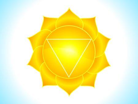 detailed solar plexus chakra vector illustration Stock Vector - 10037119