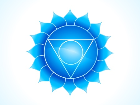 reflexology: detailed throat chakra vector illustration