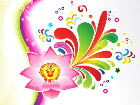 abstract colorful floral background vector illustration Vector