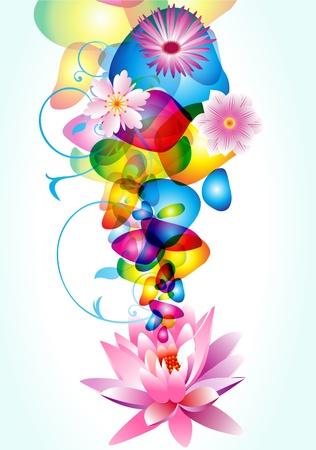 abstract liquid motion design floral background vector illustration Illustration