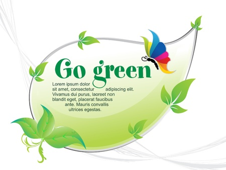 warming: abstract go green background vector illustration