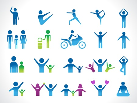 bicycle pump: abstract people icon vector illustration