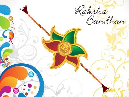 raksha: abstract Raksha Bandhan floreale illustrazione vettoriale sfondo