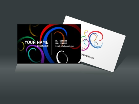busines: abstract busines card template vector illustration