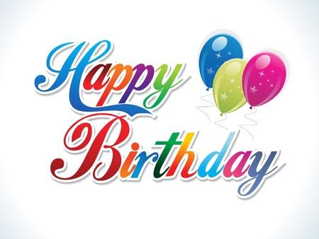 happy birthday party: Ilustraci�n de vector de plantilla de cumplea�os colorido abstracto