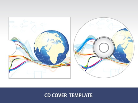 communications equipment: abstract corporate cd cover vector illustration