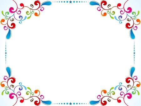 border line: abstract colorful floral border vector illustration Illustration