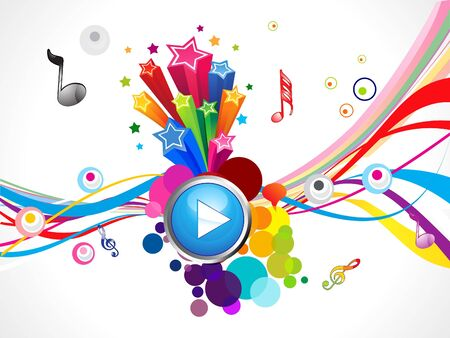 play music: abstract colorful play music concept vector illustration