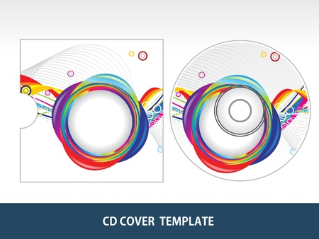 sound box: abstract colorful  cd cover vector illustration