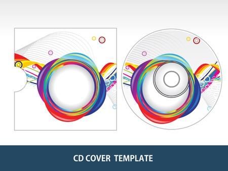 boite a musique: R�sum� illustration color�e vecteur cd cover