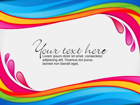 border line: abstract colorful rainbow color splash border vector illustration