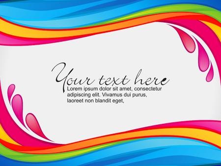 splash color: astratto colorato arcobaleno dei colori spruzzi di confine illustrazione vettoriale