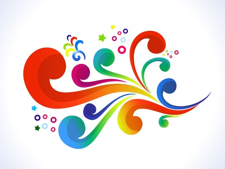 colours: abstract colorful floral  vector illustration