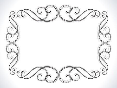 abstract floral ornamental border vector illustration