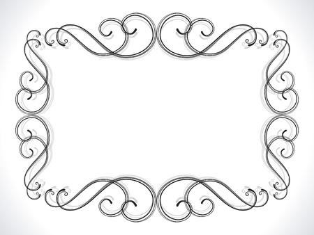 abstract floral ornamental border vector illustration
