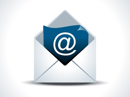 abstract mail pictogram vector illustratie