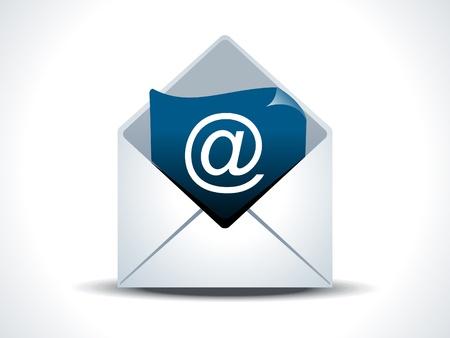email us: astratta posta icona illustrazione vettoriale