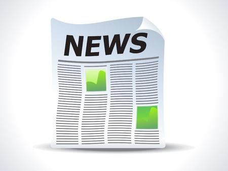 icone news: Actualit�s abstraite papier ic�ne vector illustration