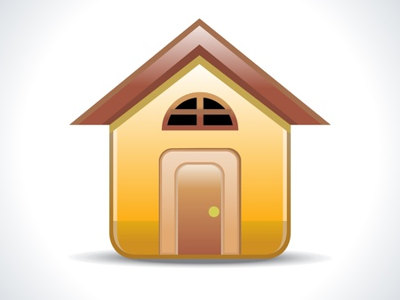 abstract shiny home icon vector illustration Stock Vector - 10431304
